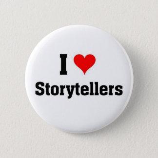 i love storytellers 6 cm round badge
