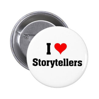 i love storytellers 6 cm round badge