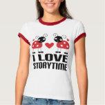 I Love Storytime Ladybug Tshirt Gift