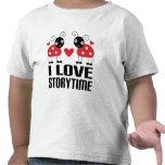 I Love Storytime Red Ladybug Kids Tee Gift
