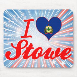 I Love Stowe, Vermont Mousepad
