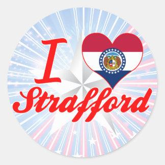 I Love Strafford, Missouri Sticker