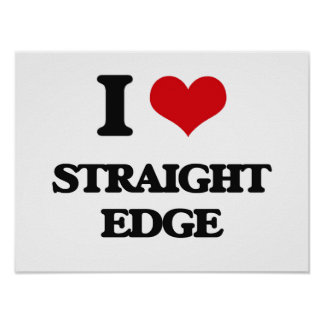 I Love STRAIGHT EDGE Posters