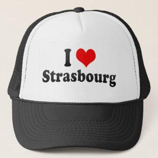 I Love Strasbourg, France Trucker Hat