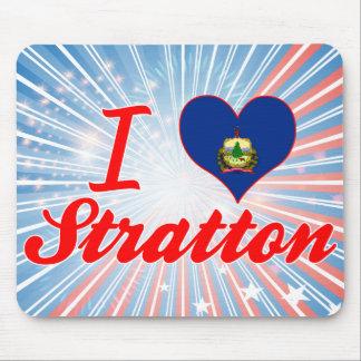 I Love Stratton, Vermont Mousepad