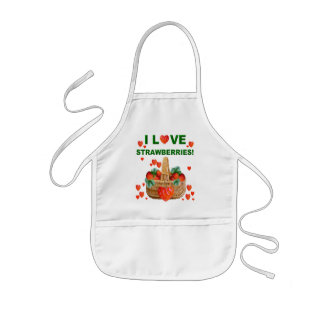I LOVE STRAWBERRIES Apron