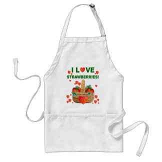 I LOVE STRAWBERRIES! Apron