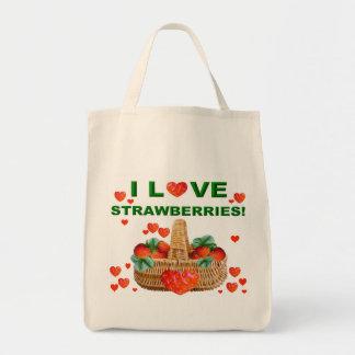 I LOVE STRAWBERRIES!    Bag