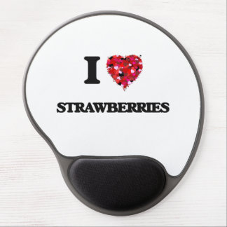 I Love Strawberries food design Gel Mouse Pad