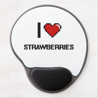 I Love Strawberries Gel Mouse Pad