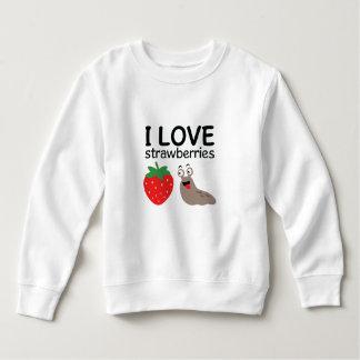 I Love Strawberries Illustration Sweatshirt
