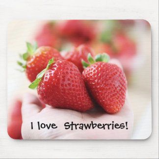 I love strawberries! mouse mat