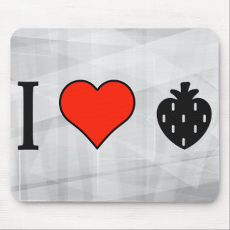 I Love Strawberries Mouse Pad