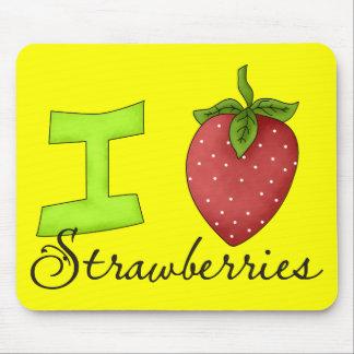 I Love Strawberries Mousepad