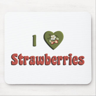 I Love Strawberries Mousepads
