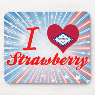 I Love Strawberry Arkansas Mousepads