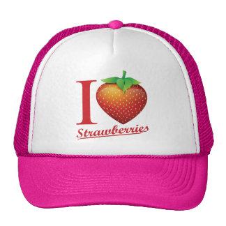 I Love Strawberry Hat