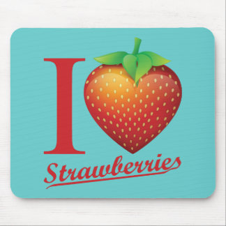 I Love Strawberry Mouse Mat