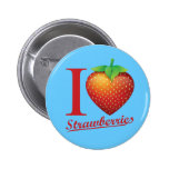 I Love Strawberry Pin