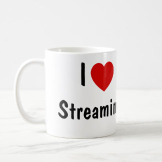 I Love Streaming Basic White Mug
