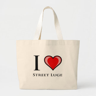 I Love Street Luge Canvas Bags
