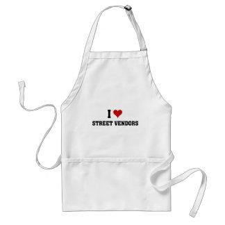 I love street vendors standard apron