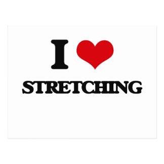 I love Stretching Postcard