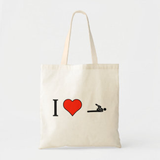 I Love Stretching With Flexed Leg To Chest Budget Tote Bag