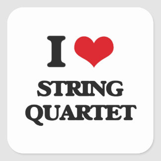 I Love STRING QUARTET Stickers