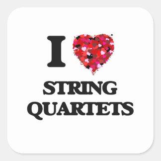 I love String Quartets Square Sticker