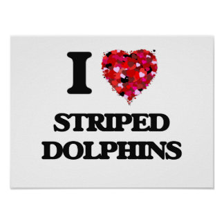 I love Striped Dolphins Poster