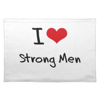 I love Strong Men Place Mats