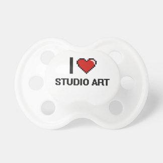 I Love Studio Art Digital Design Baby Pacifiers