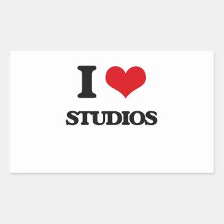 I love Studios Rectangular Sticker