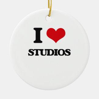 I love Studios Round Ceramic Decoration