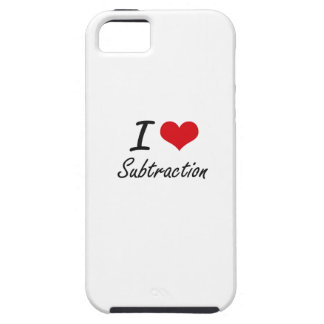 I love Subtraction iPhone 5 Cases