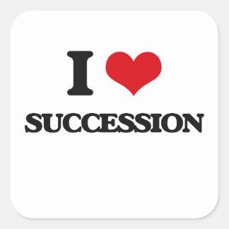 I love Succession Square Sticker