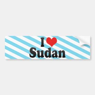 I Love Sudan Bumper Sticker
