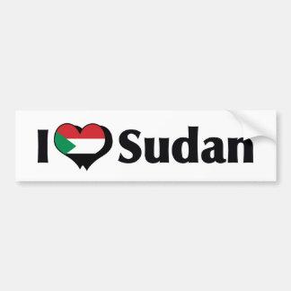 I Love Sudan Flag Bumper Sticker