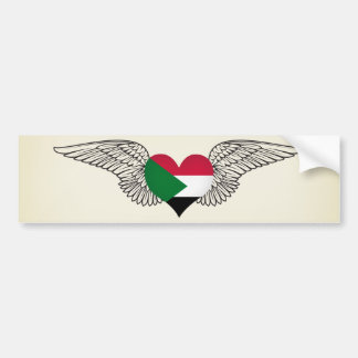 I Love Sudan -wings Bumper Sticker
