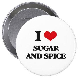 I love Sugar And Spice 10 Cm Round Badge