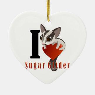 I Love Sugar Glider Christmas Ornament