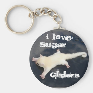 I Love  Sugar Gliders =Outbackgliders.com, Key Ring
