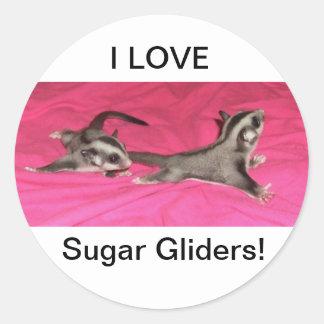 I LOVE Sugar gliders STICKER