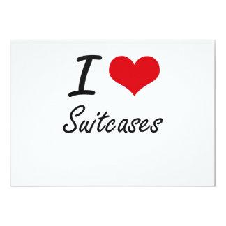 I love Suitcases 13 Cm X 18 Cm Invitation Card