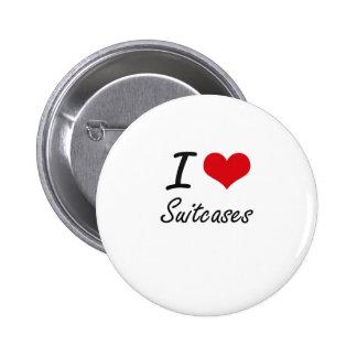 I love Suitcases 6 Cm Round Badge