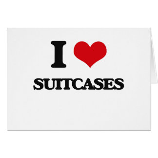 I love Suitcases Greeting Card