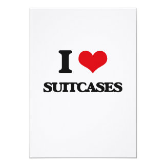 I love Suitcases 5x7 Paper Invitation Card
