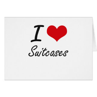 I love Suitcases Note Card