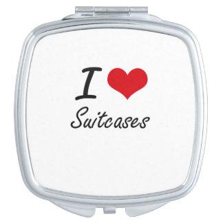 I love Suitcases Travel Mirror